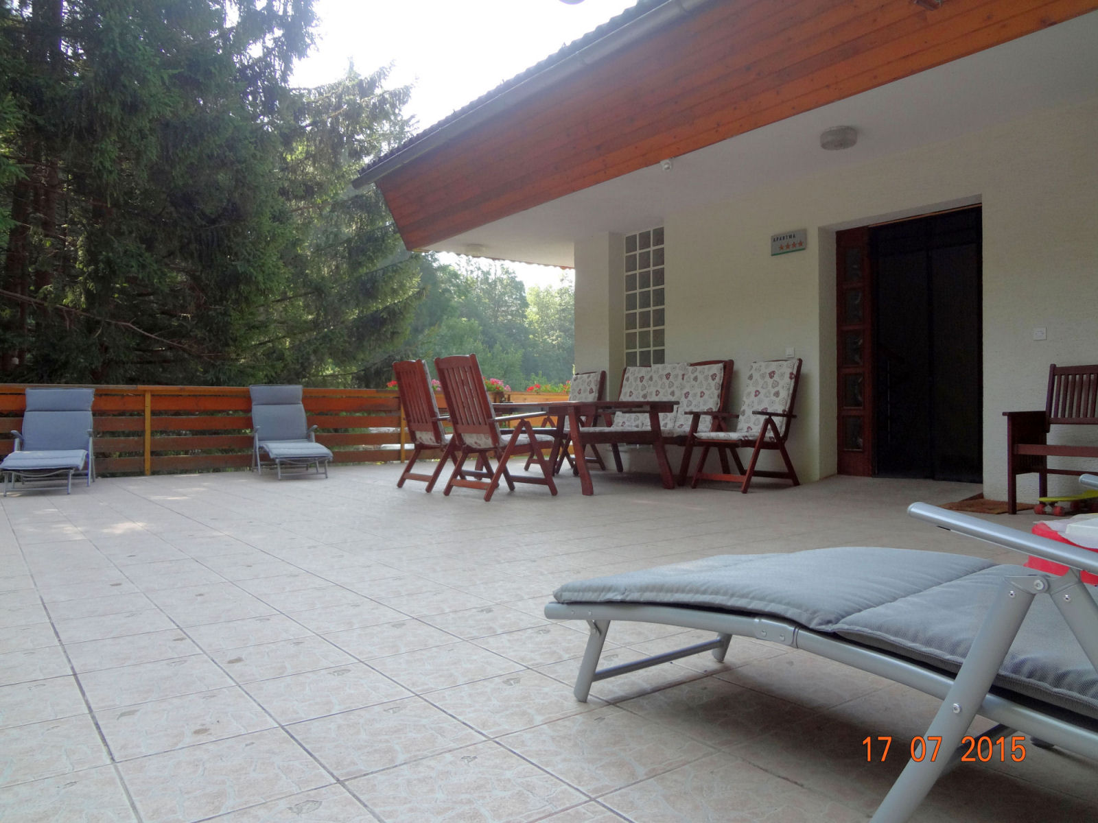 Guests can use a terrace behind the house.