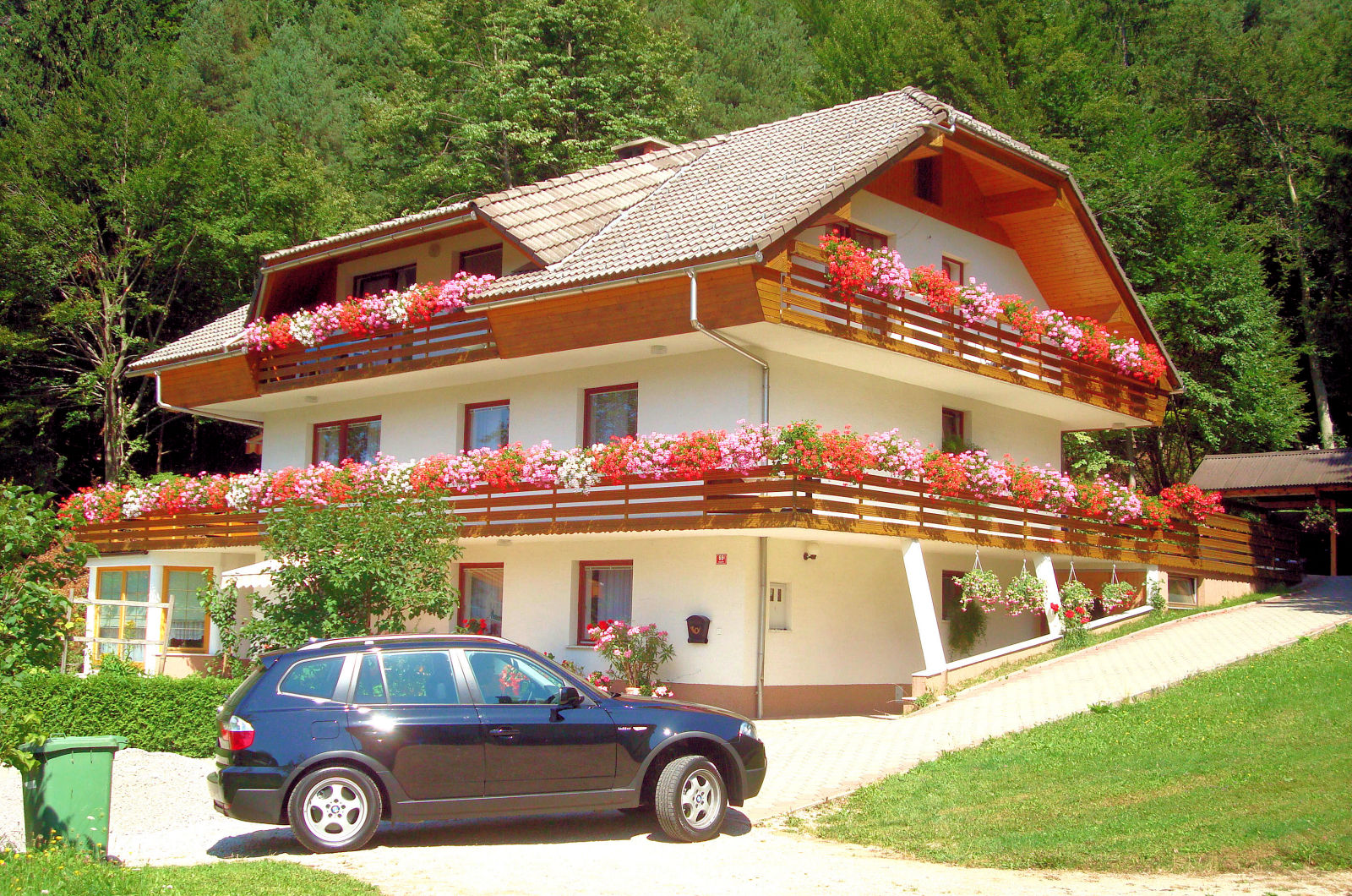 Exterior of the Fine Stay Apartment Superior located in the Lake Bled area in Slovenia