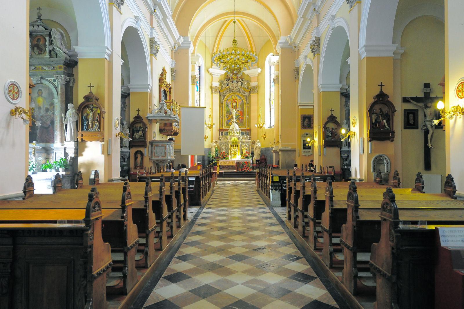 Interior of the Basilica of Mary Help of Christians, Brezje, Radovljica, Slovenia
