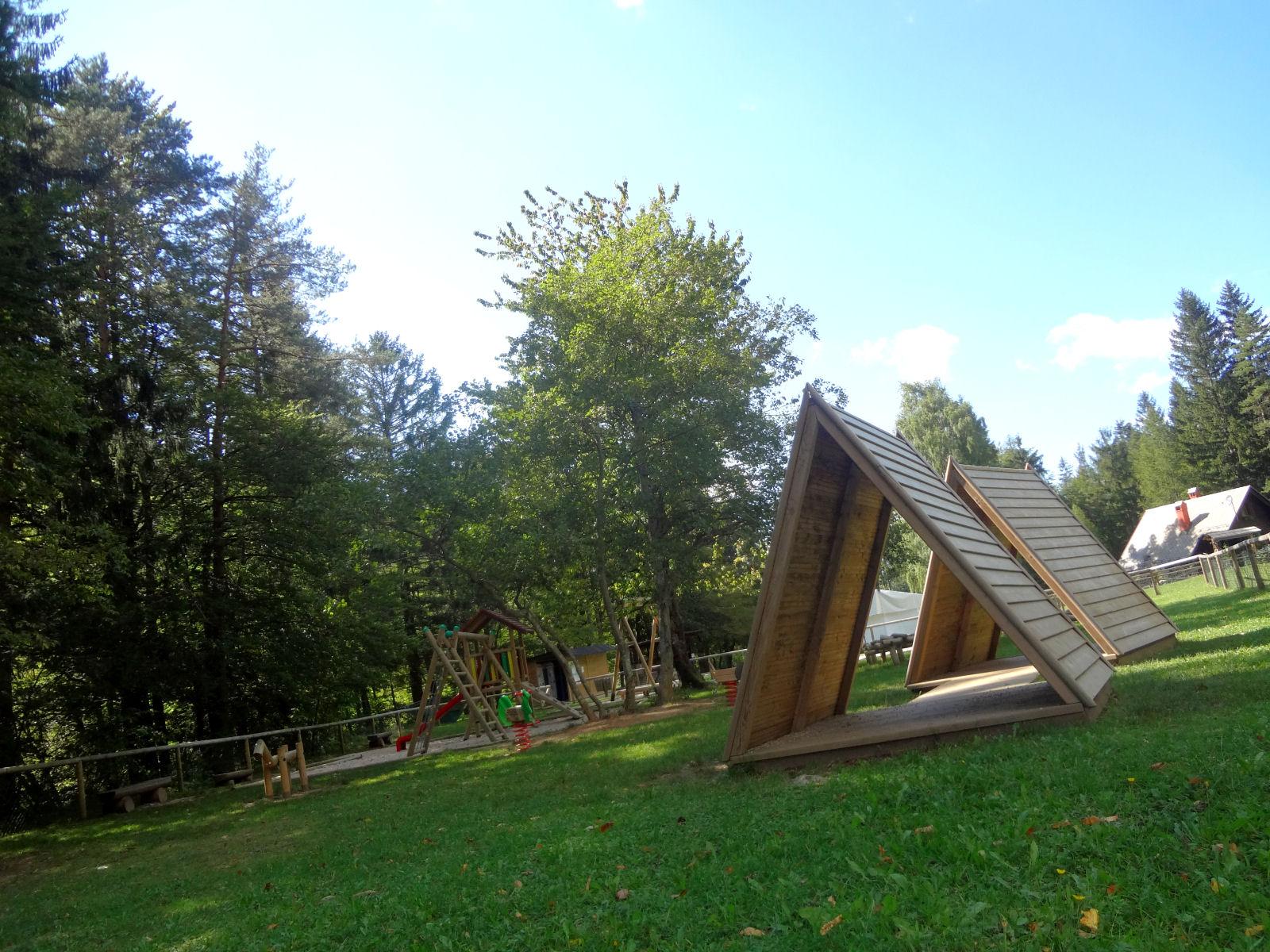Children's playground at the Zavrsnica recreation park