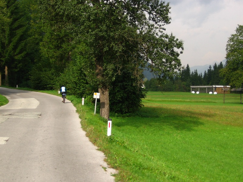 Cycling route Radovna near Bled
