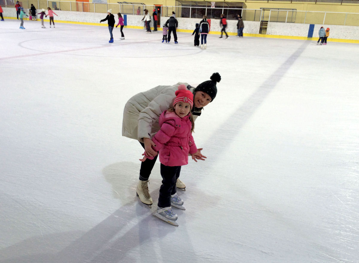 Ice skating in Sports hall Bled