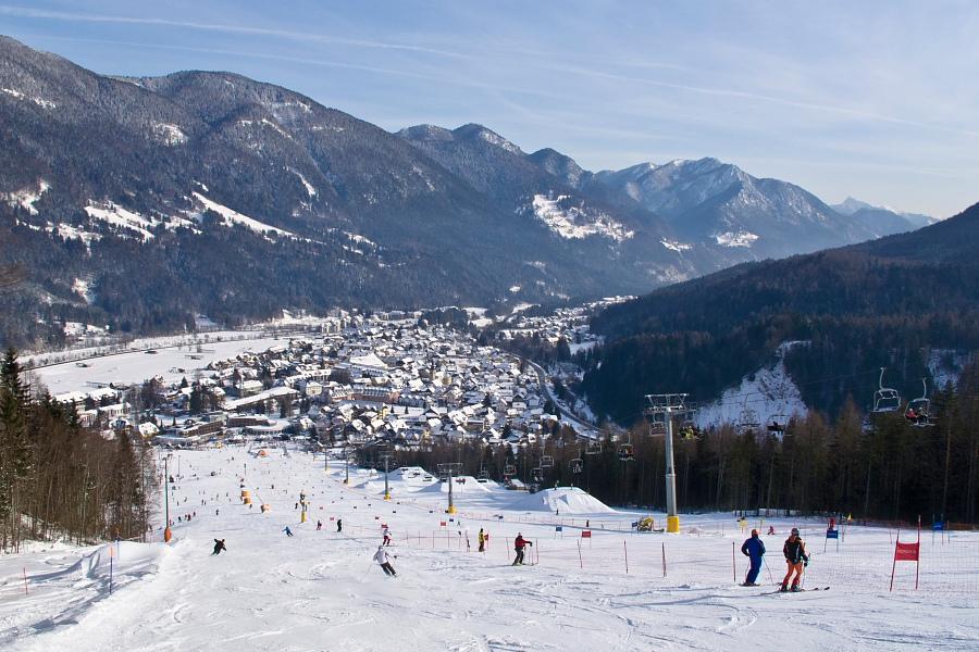 Kranjska Gora ski resort in Slovenia near Austria