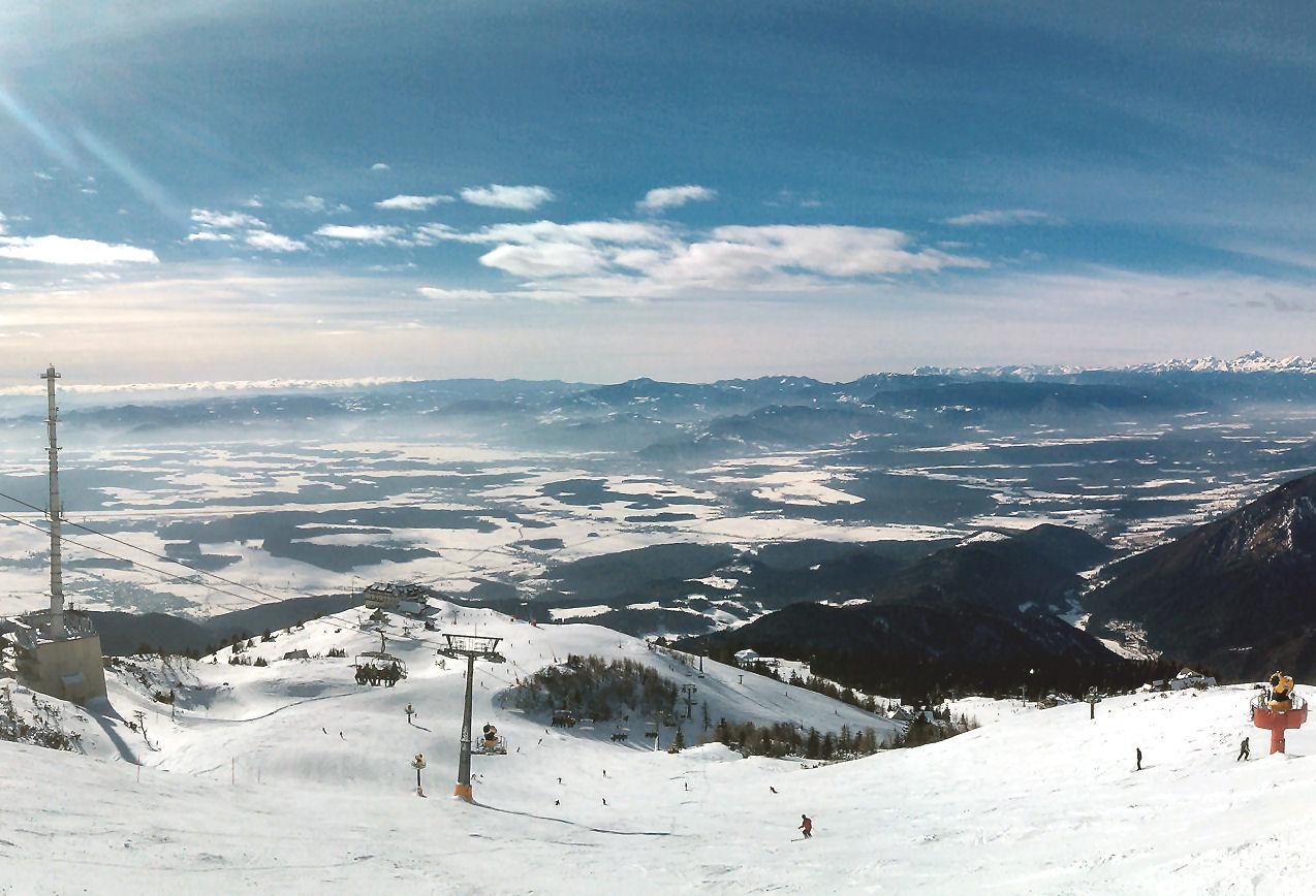 Krvavec Ski Resort near Ljubljana in Slovenia