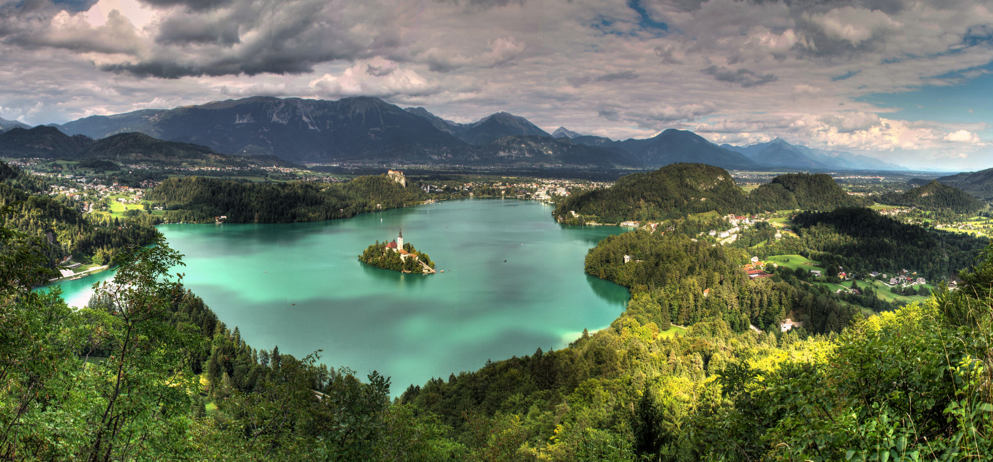 Lake Bled panoramic view