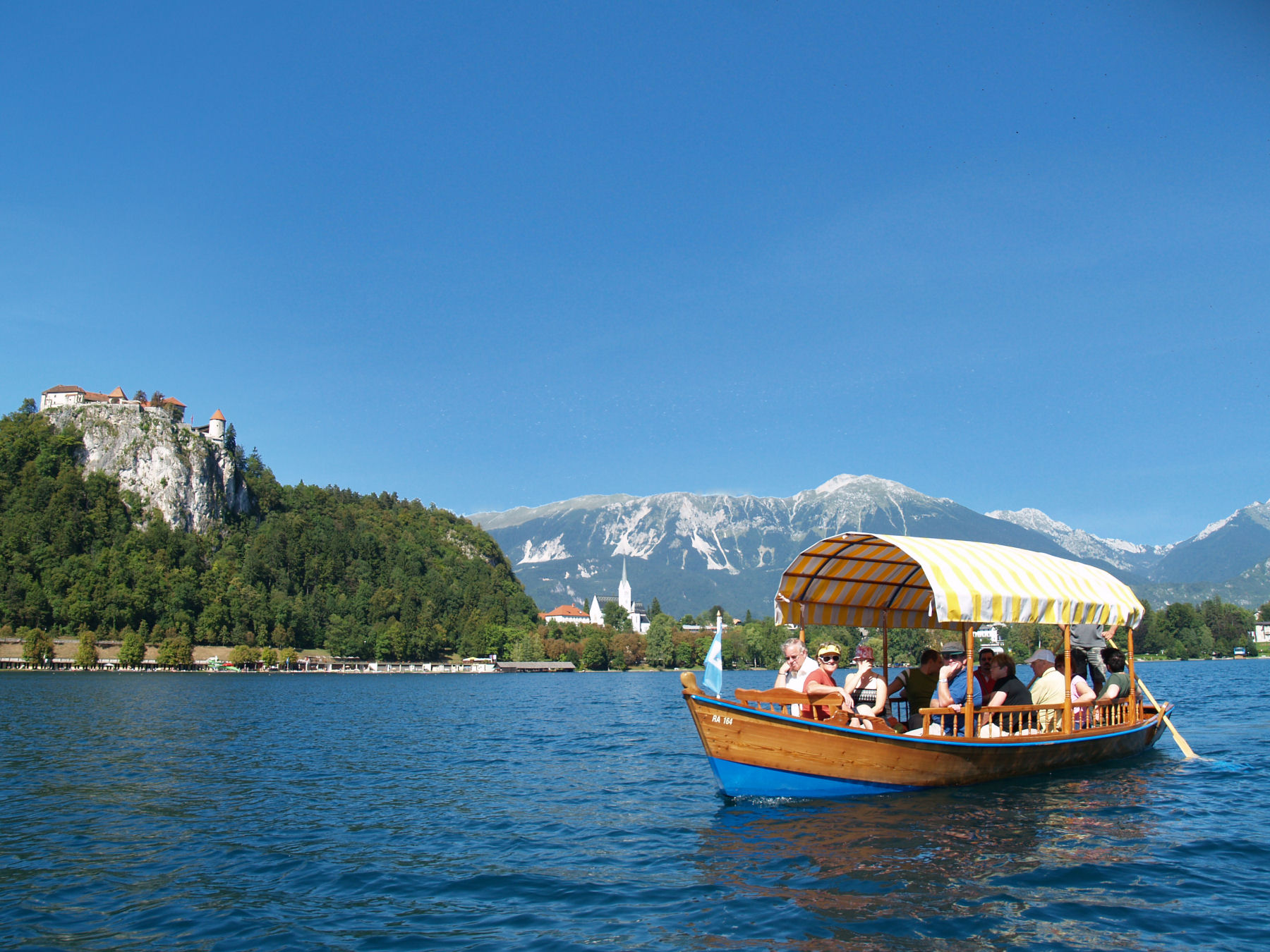 Pletna boat ride in Lake Bled