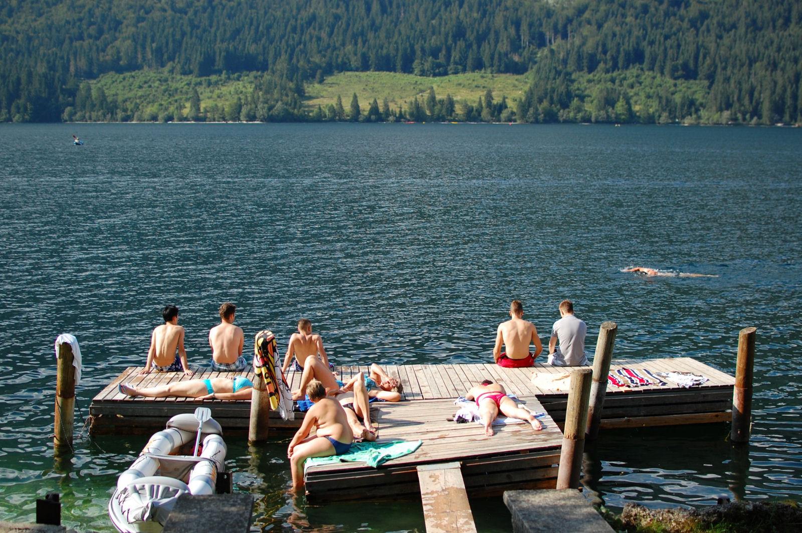 lake-bohinj-summer-swimming