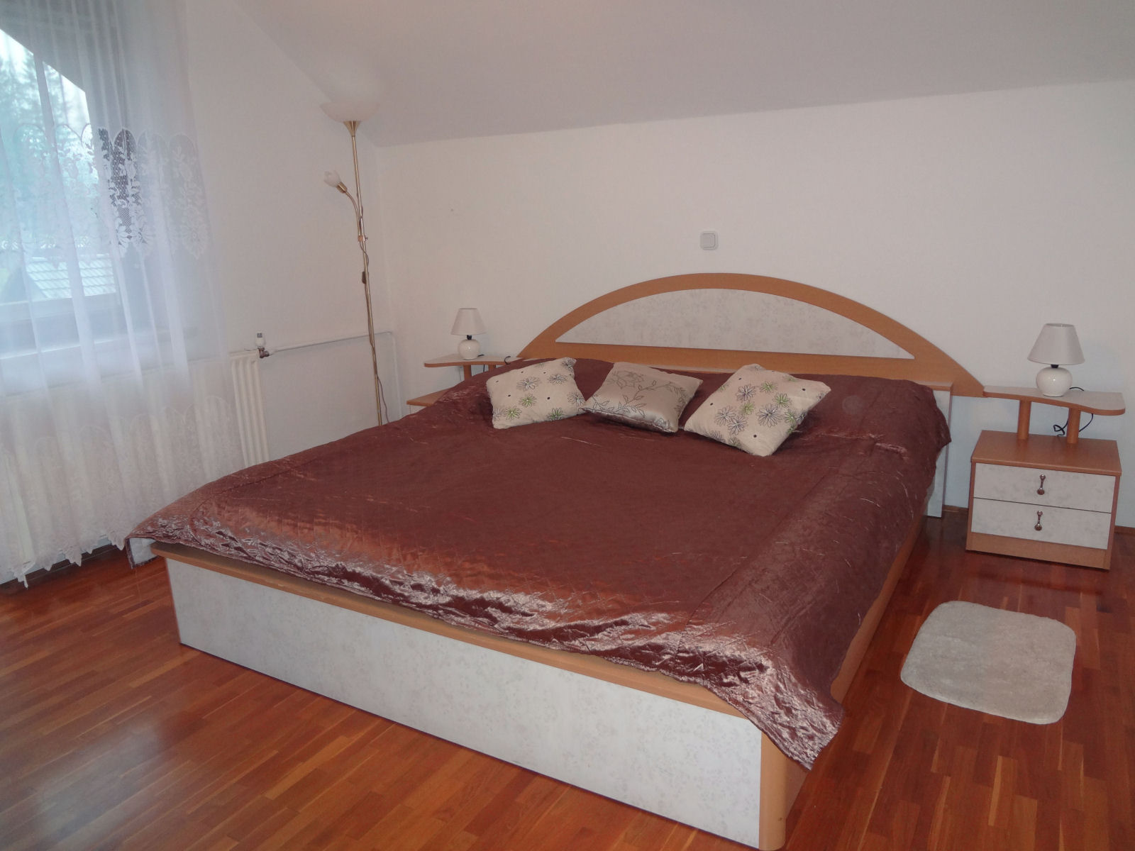 Fine Stay apartment near Bled has large bedroom with king size bed