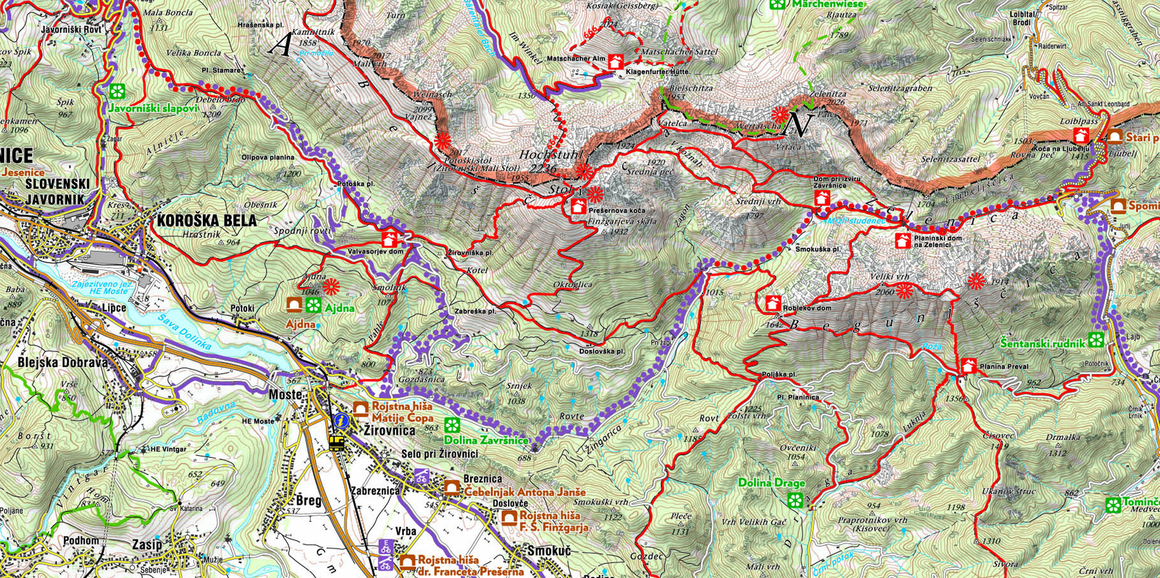 Hiking Options in the Karavanke mountain range and in the Julian Alps