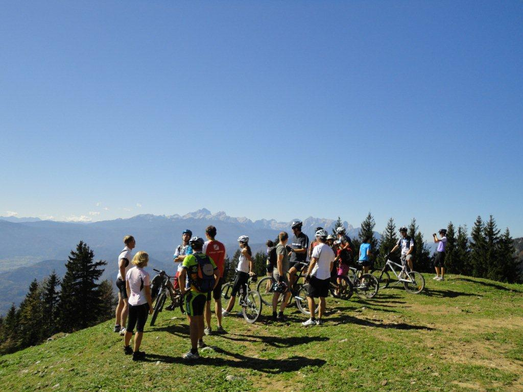 Mountain biking in Slovenian Alps