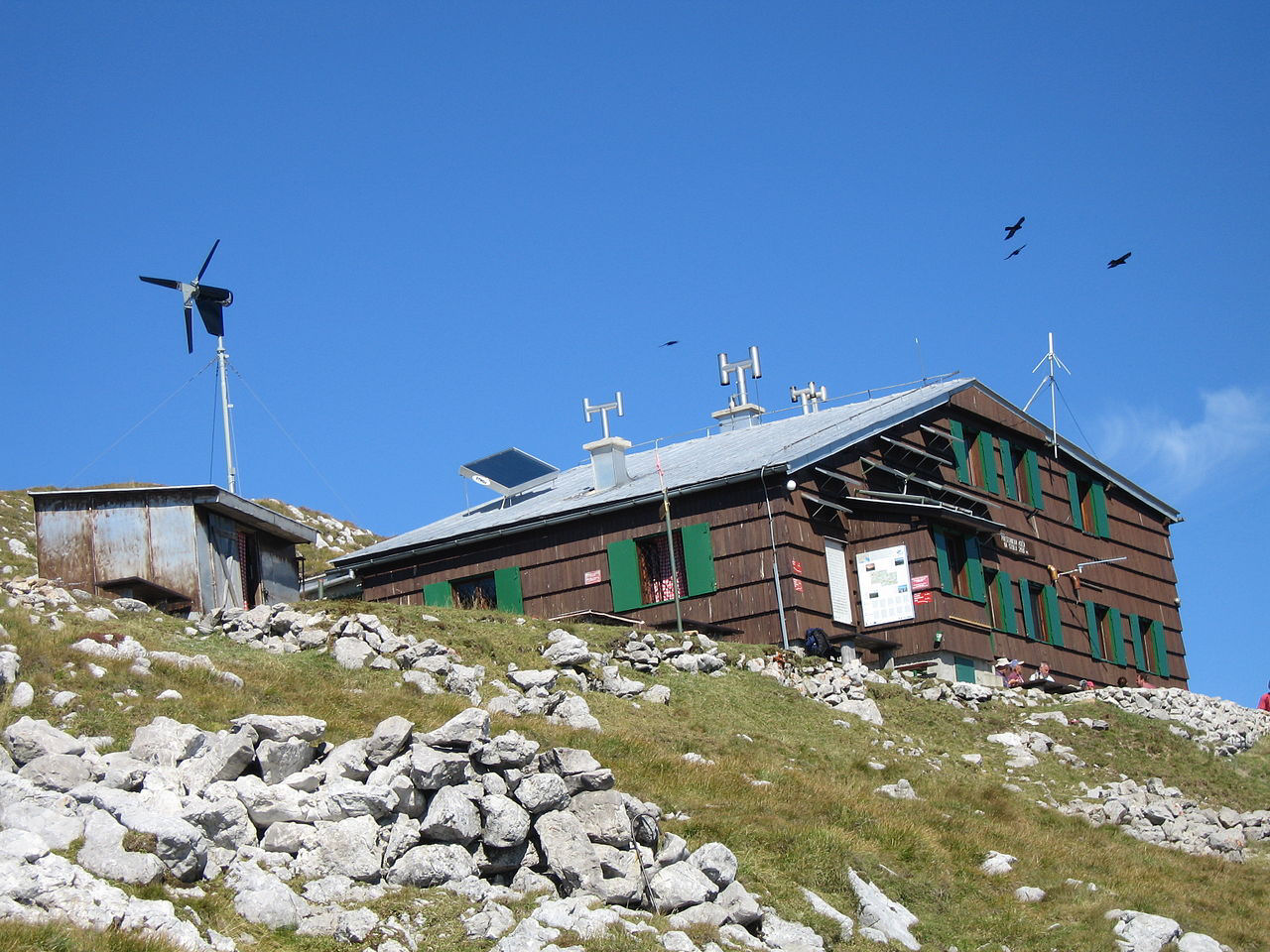 Mountain hut Presere on Stol is open from June to September