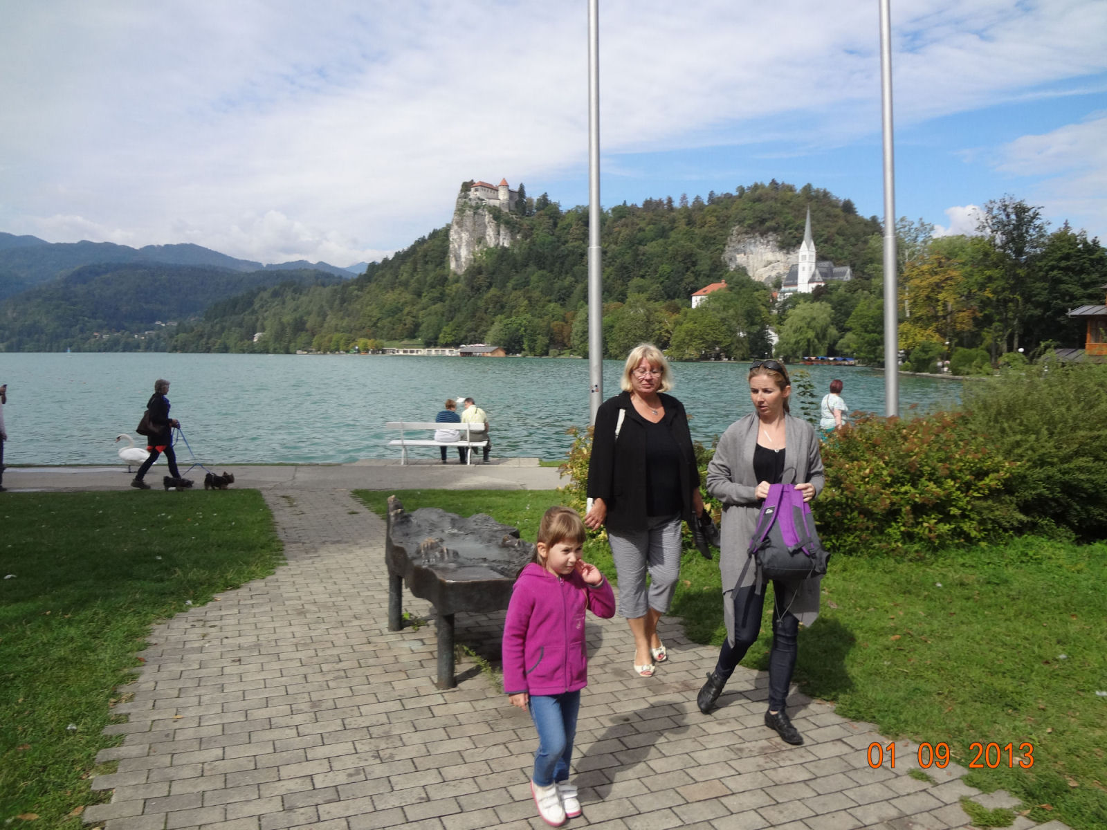 Nice walking around Bled in Slovenia