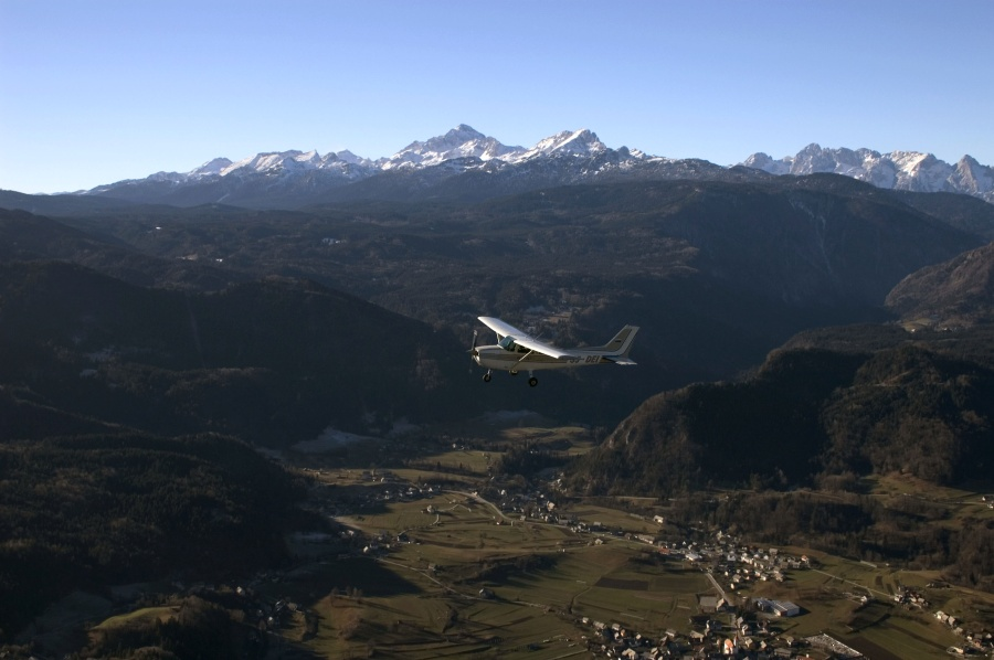 Panoramic flights over the Gorenjska region of Slovenia