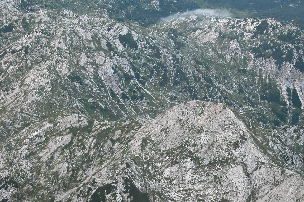 Panoramic flights over Slovenian Alps