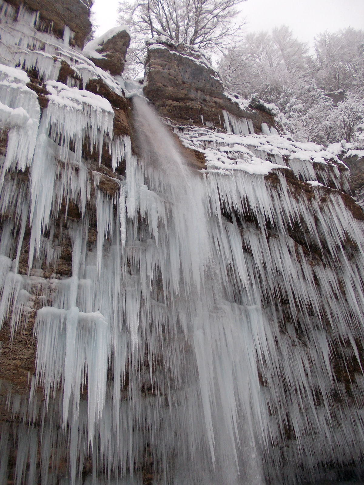 Pericnik waterfall in winter