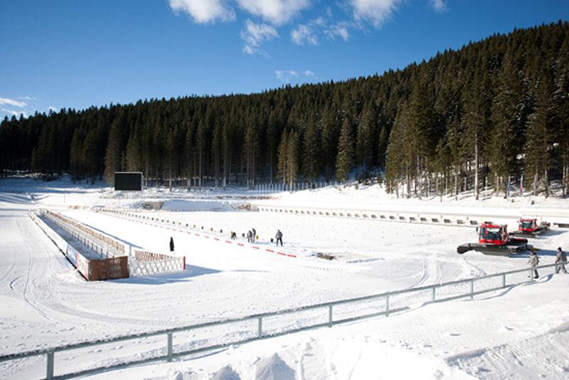 Pokljuka has lots of snow in winter