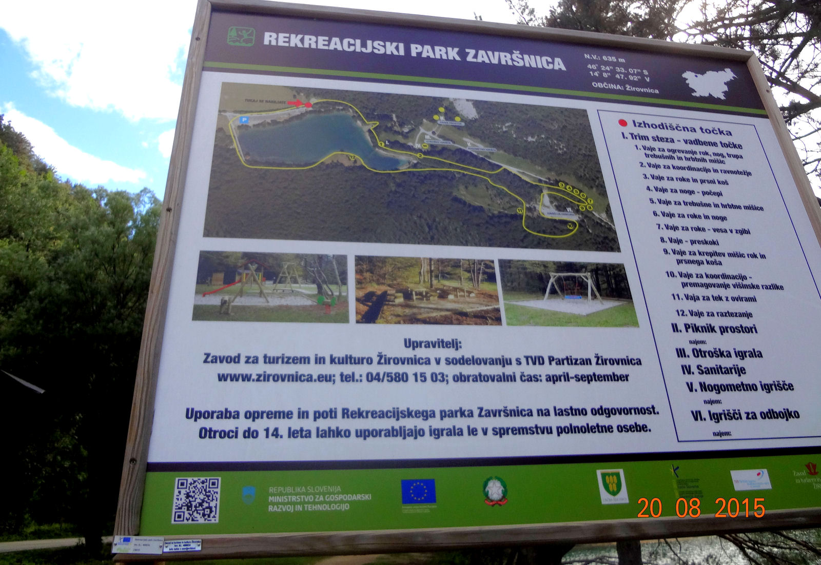 recreation-park-zavrsnica-map-board-1600