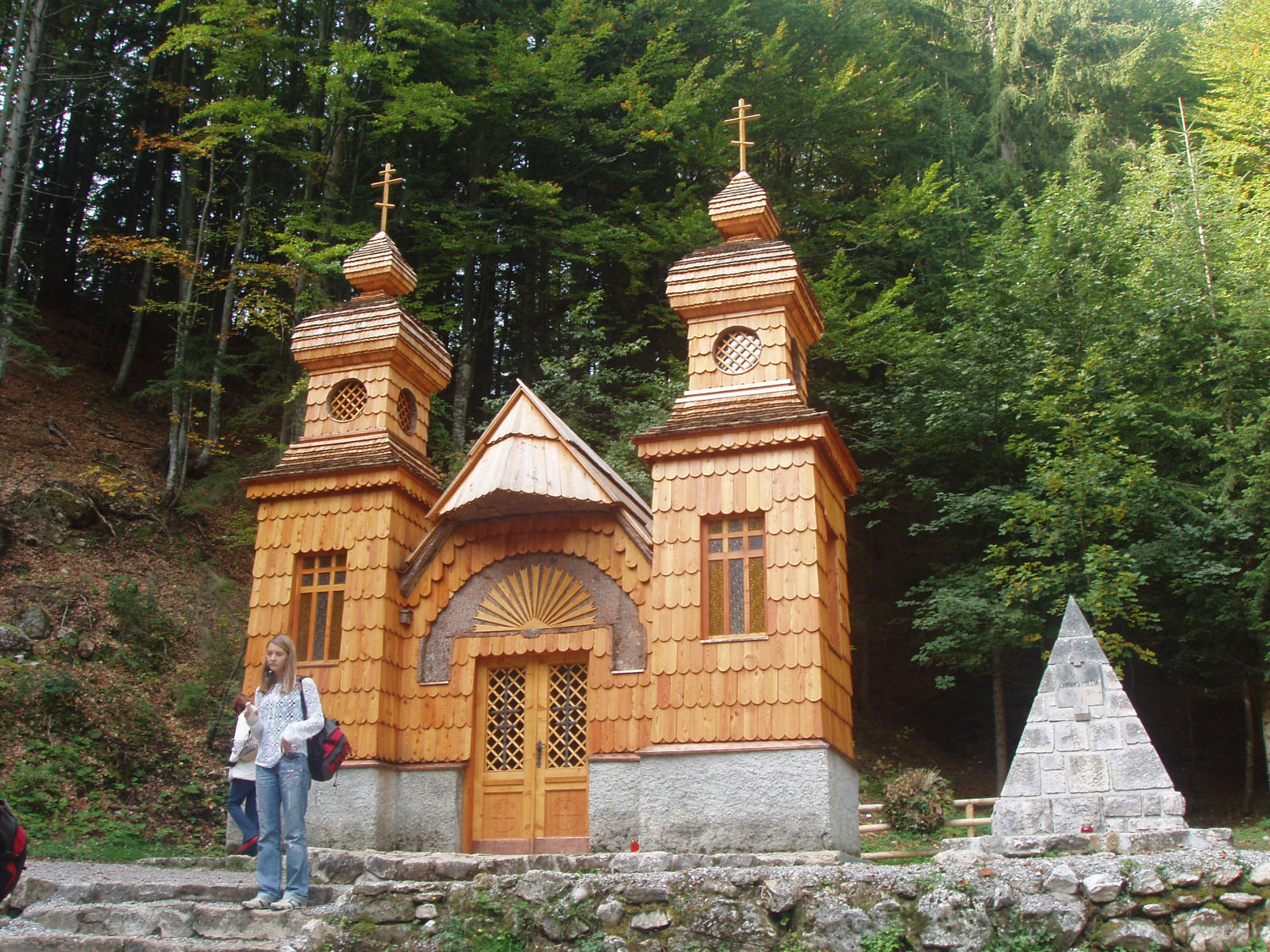 Russian chapel near Vrsic Pass remembering Russian POW's that died building the high Vrsic road.