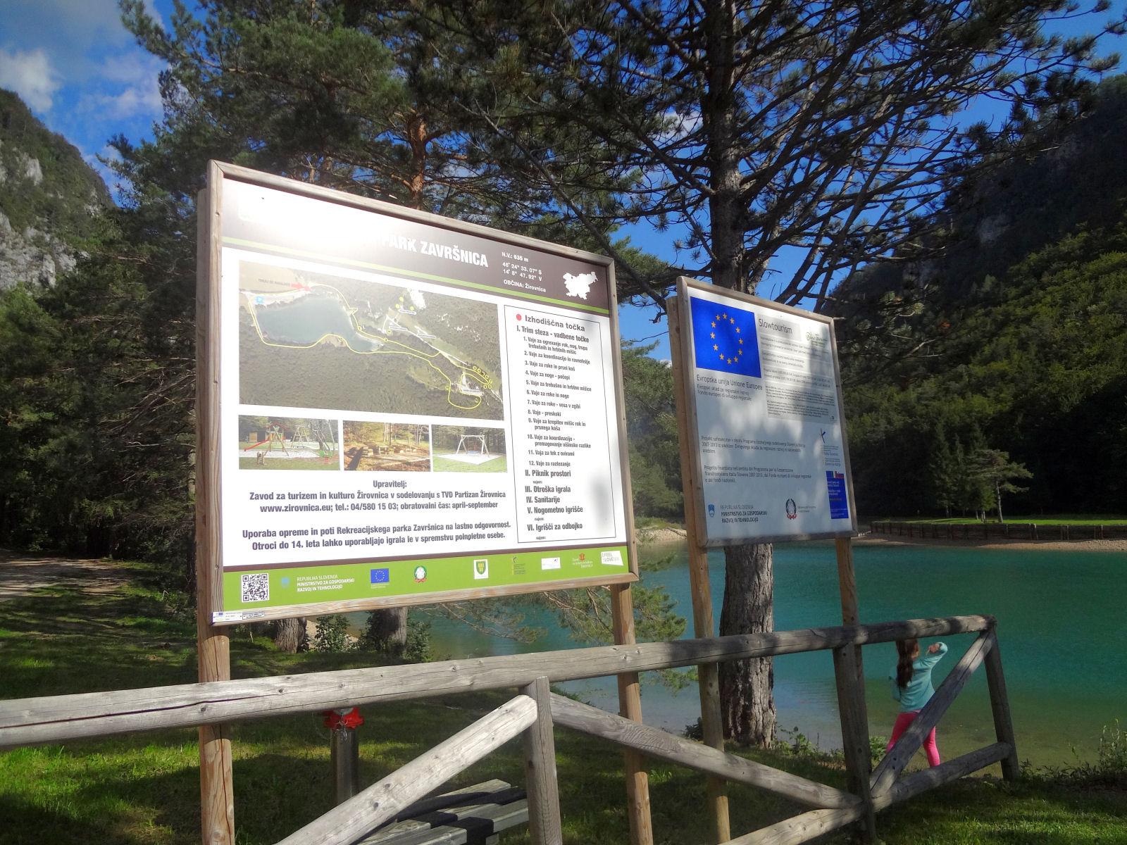 Zavrsnica Recreation Park sign board