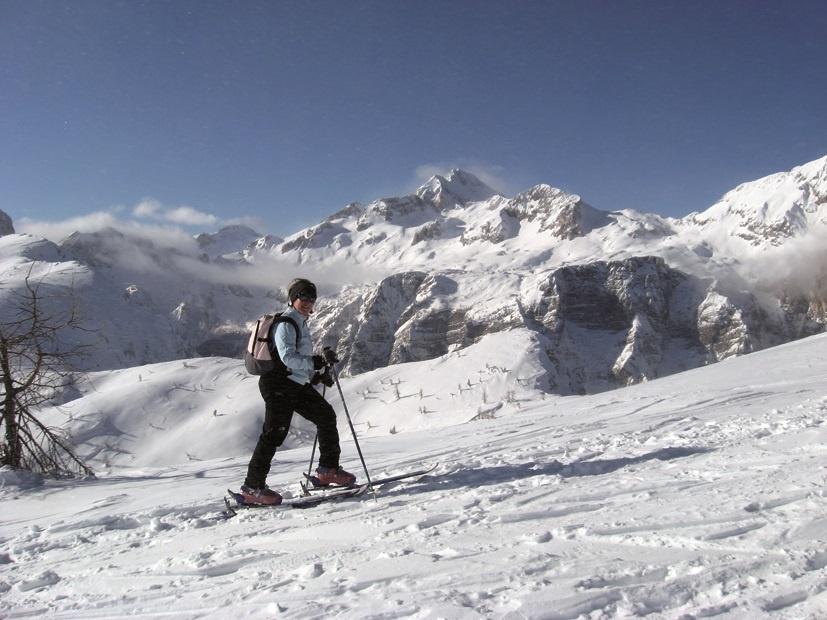 Ski touring near Bled in Slovenia