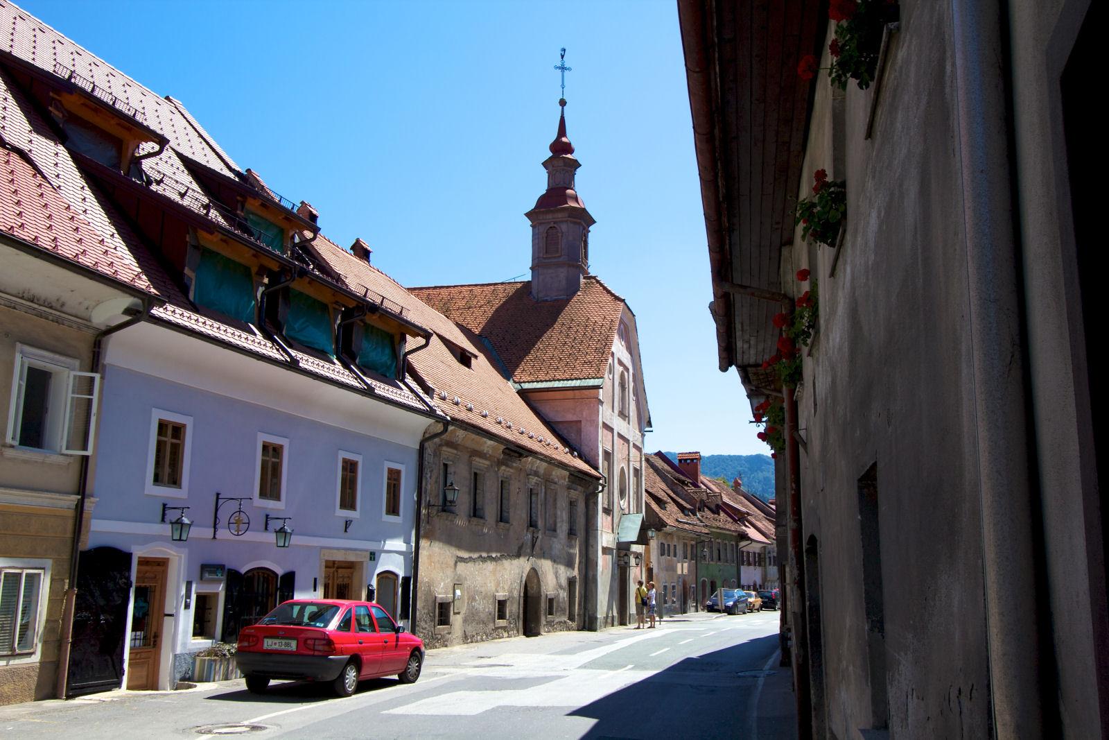 Skofja Loka street view, Gorenjska, Slovenia
