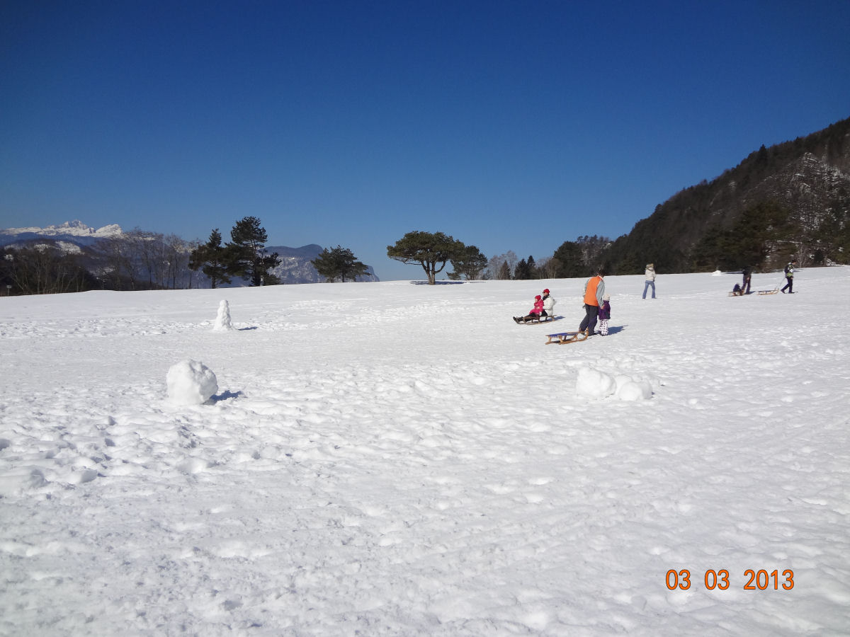 Sledding in the Gorenjska region of Slovenia
