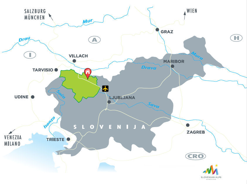 Fine Stay apartment on the map of Slovenia