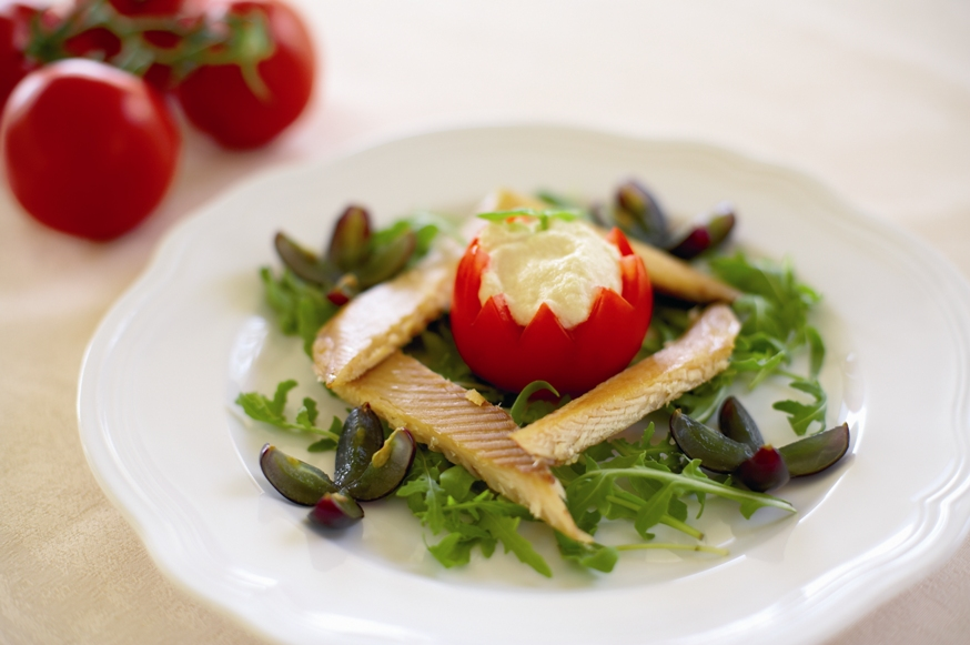 Smoked trout with horseradish