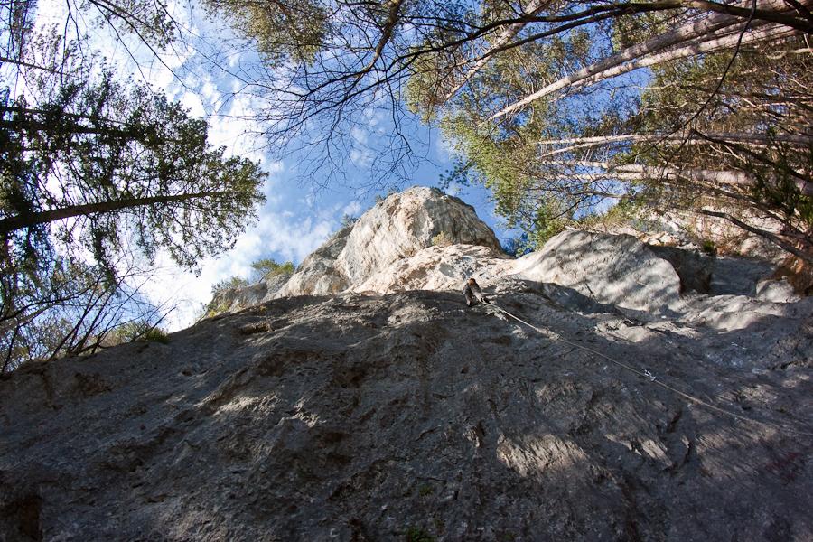 Sport climbing in Slovenian Alps
