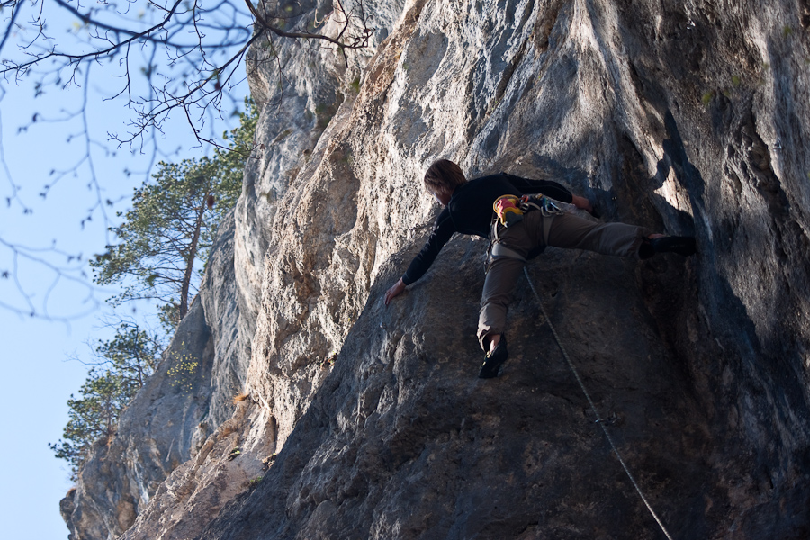 Sport climbing in the Zavrsnica valley near Bled