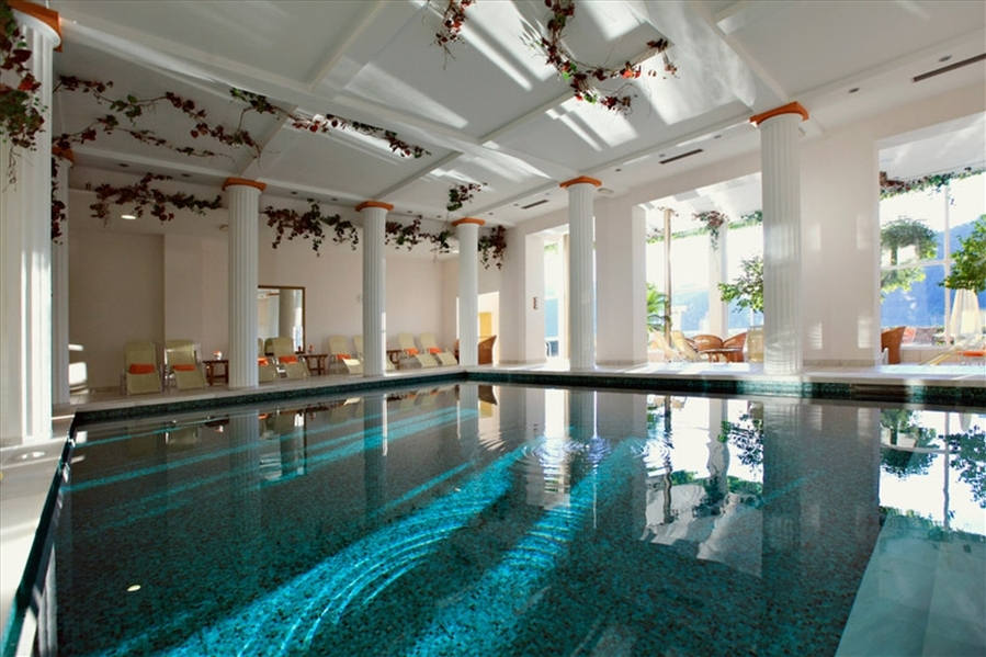 Grand Hotel Toplice wellness centre in Bled features an indoor thermal swimming pool