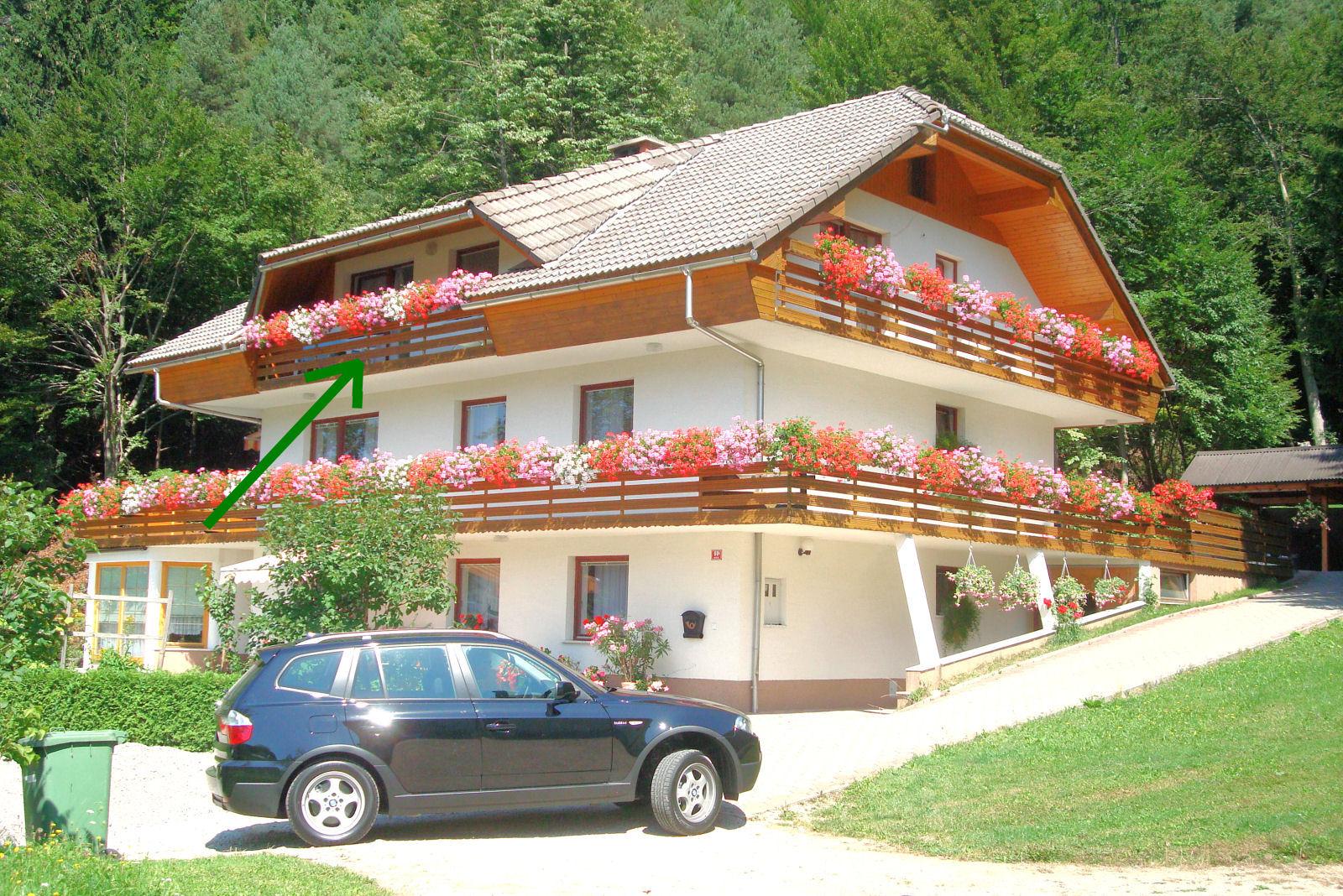 Apartma in balkon na Gorenjskem v Sloveniji