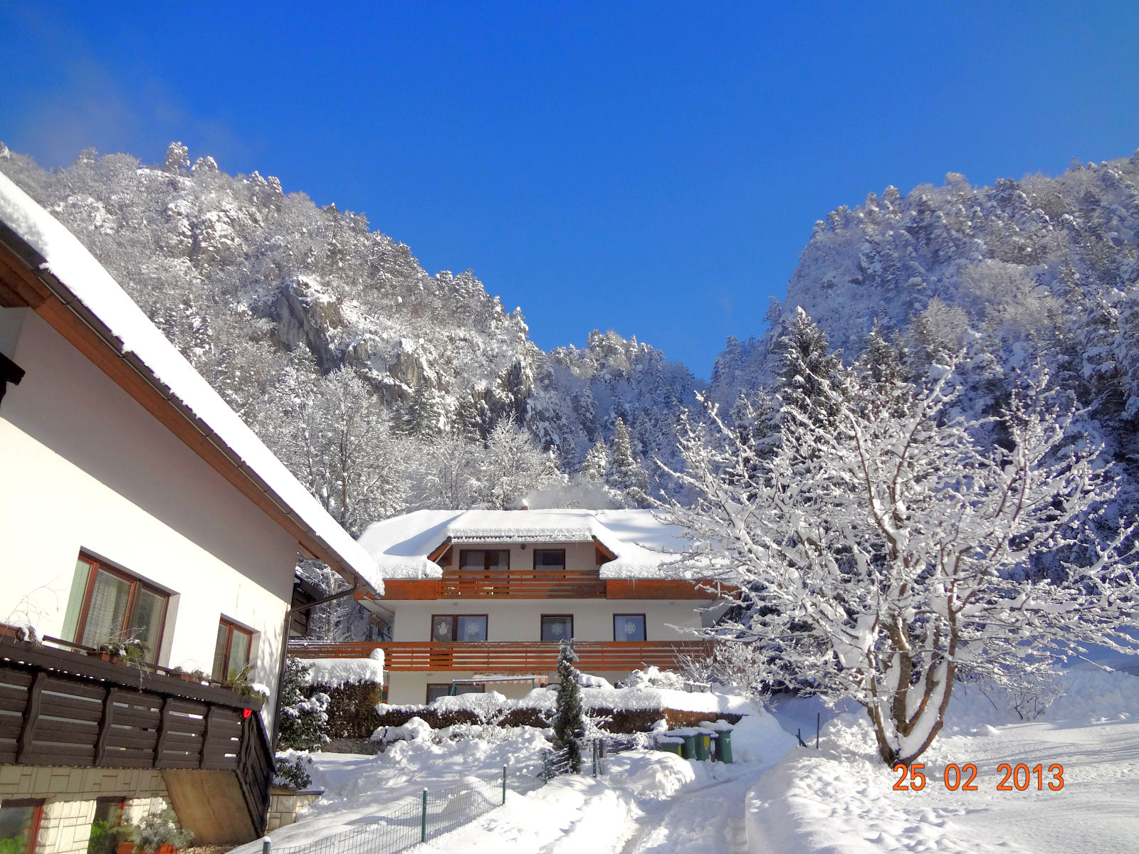Apartment near Bled wit snow and beautiful view