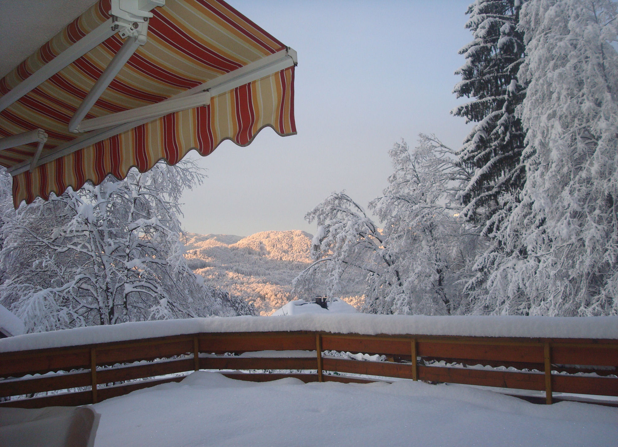 Apartment near Bled with nice winter view