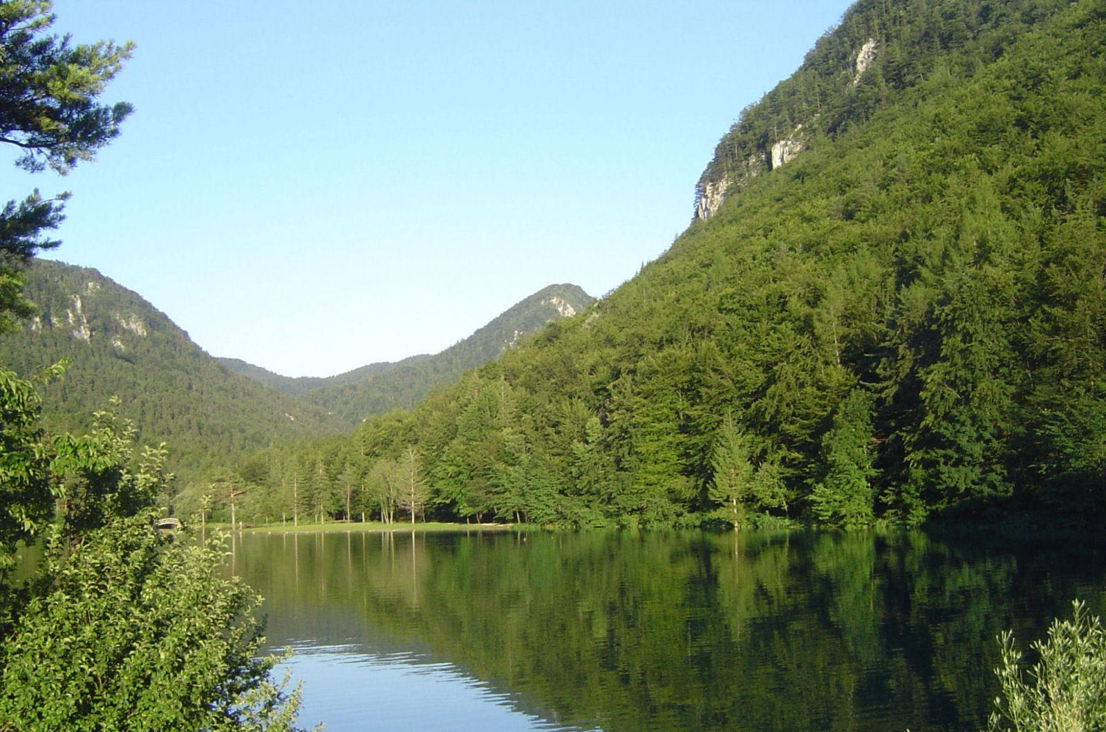 Jezero Završnica v bližini apartmaja