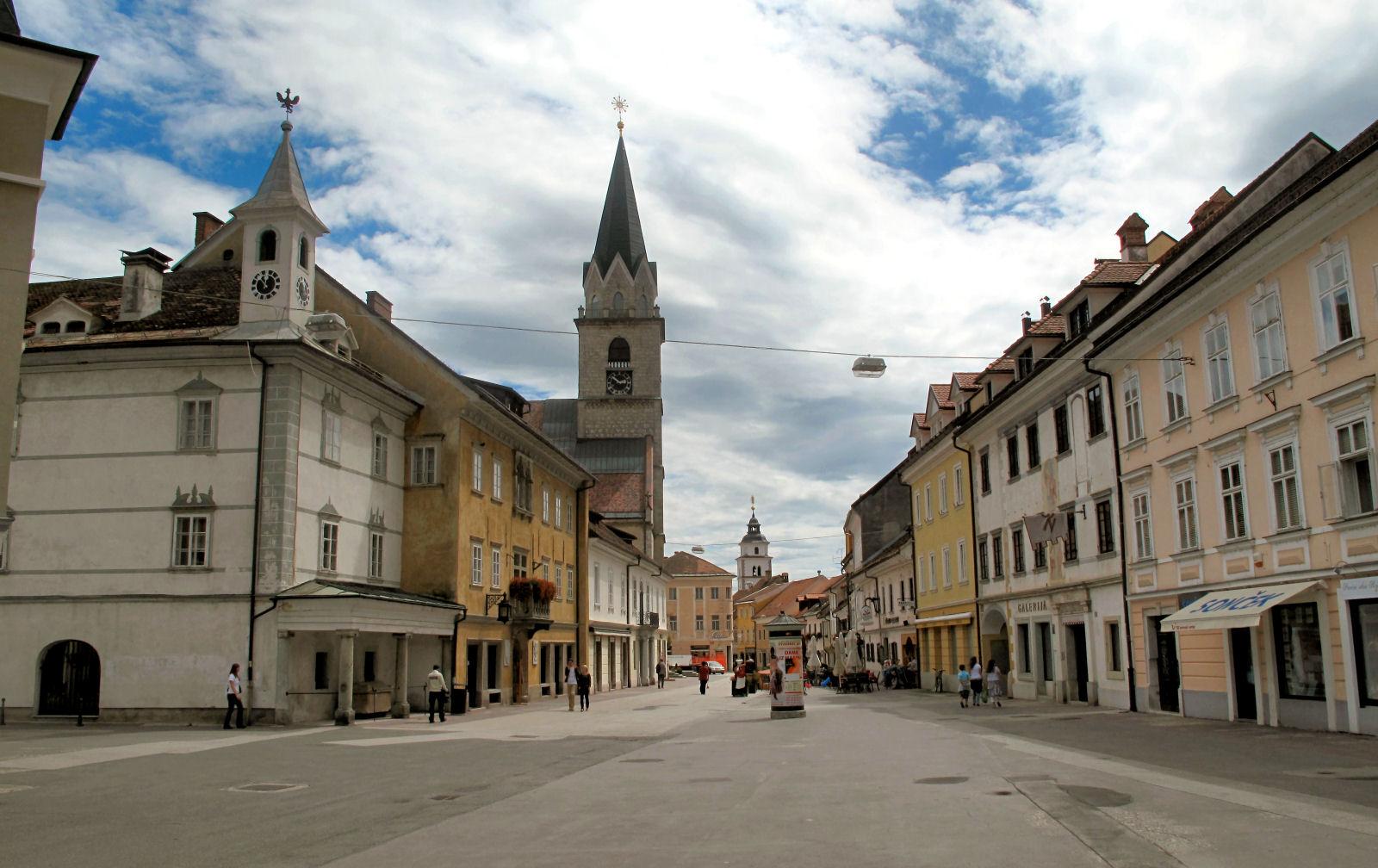 Kranj, the capital of the Gorenjska region, Slovenia