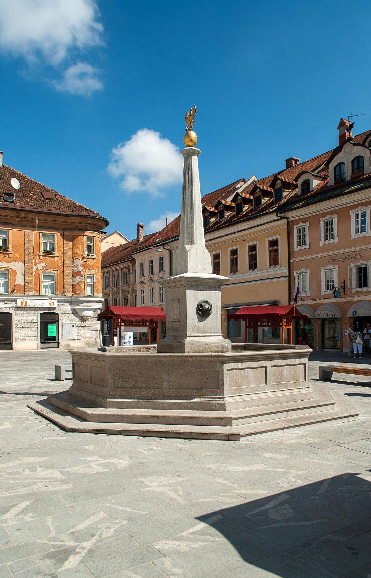 Main square in Kranj, Slovenia
