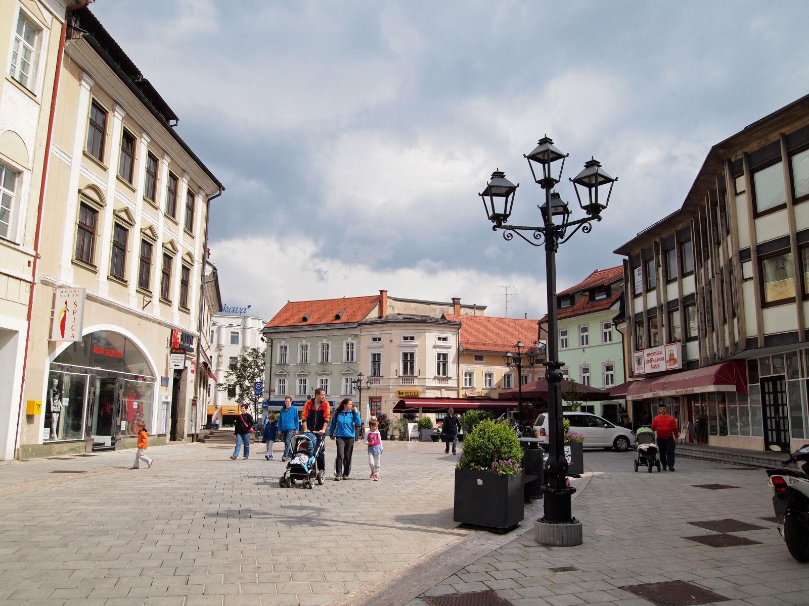 Maister square in Kranj, Slovenia