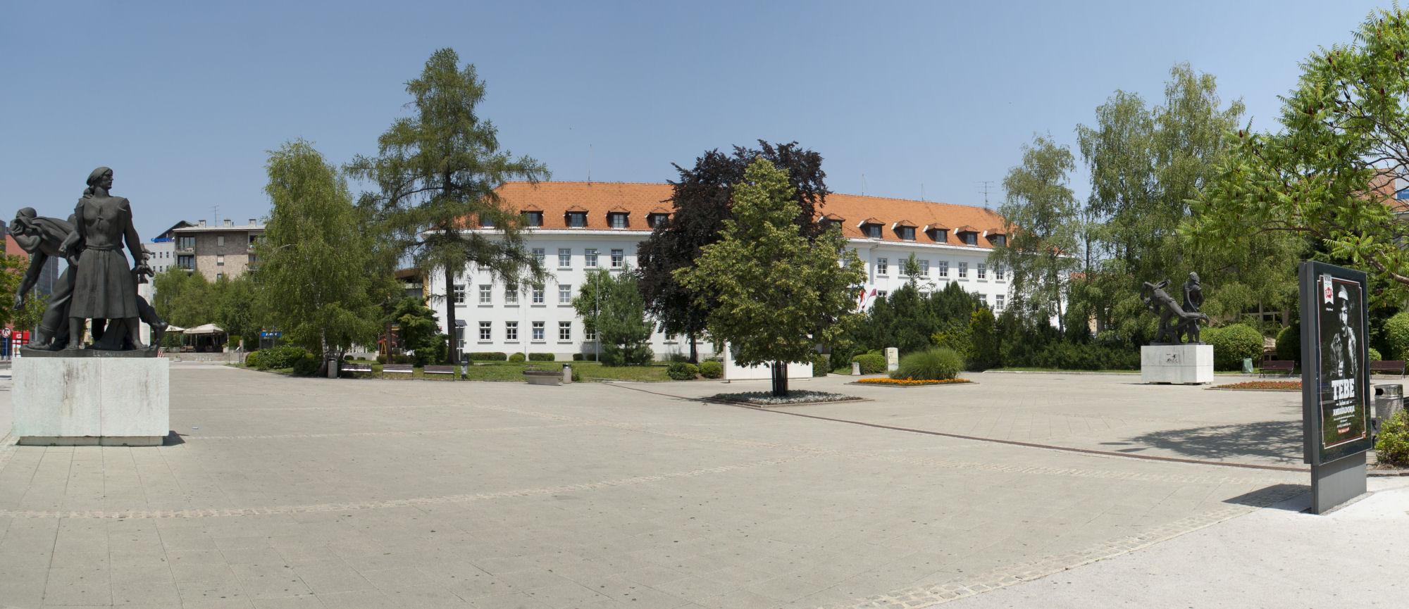 Slovenian square in Kranj, Slovenia