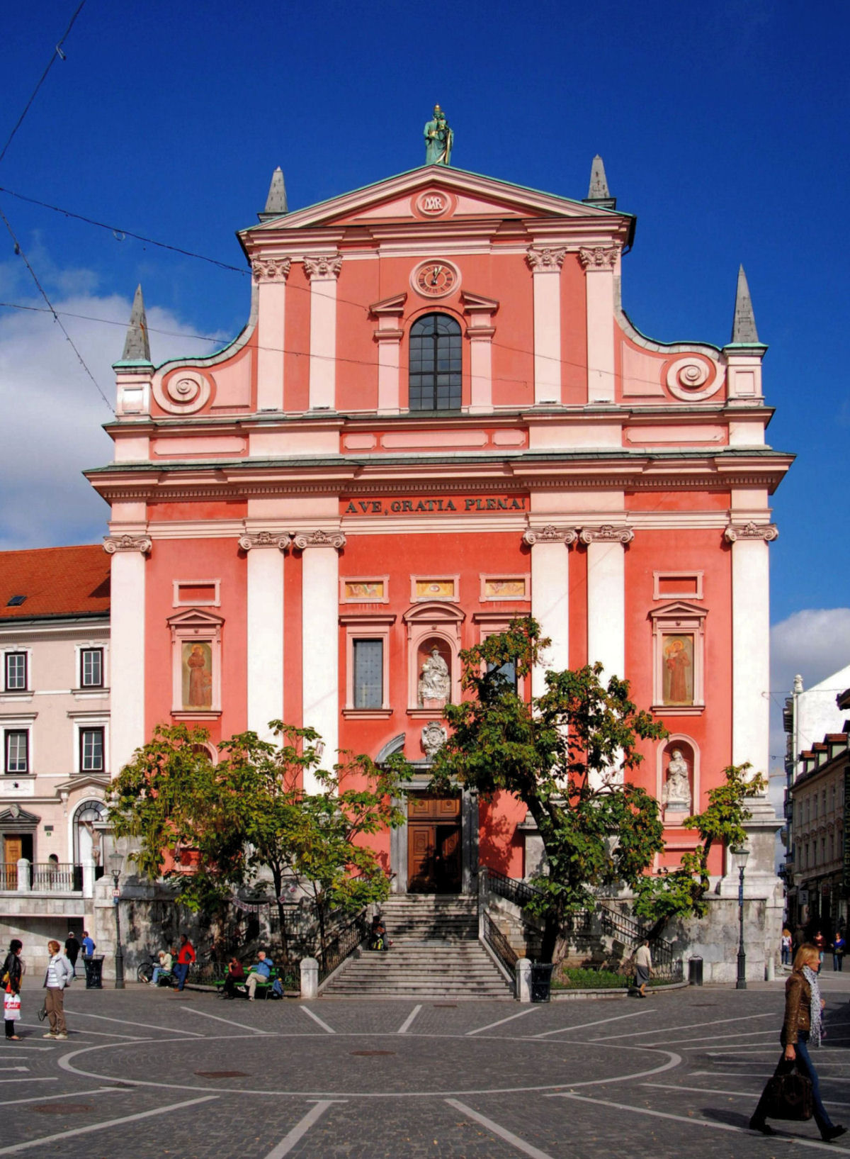Franciscan Church of the Annunciation Ljubljana Slovenia