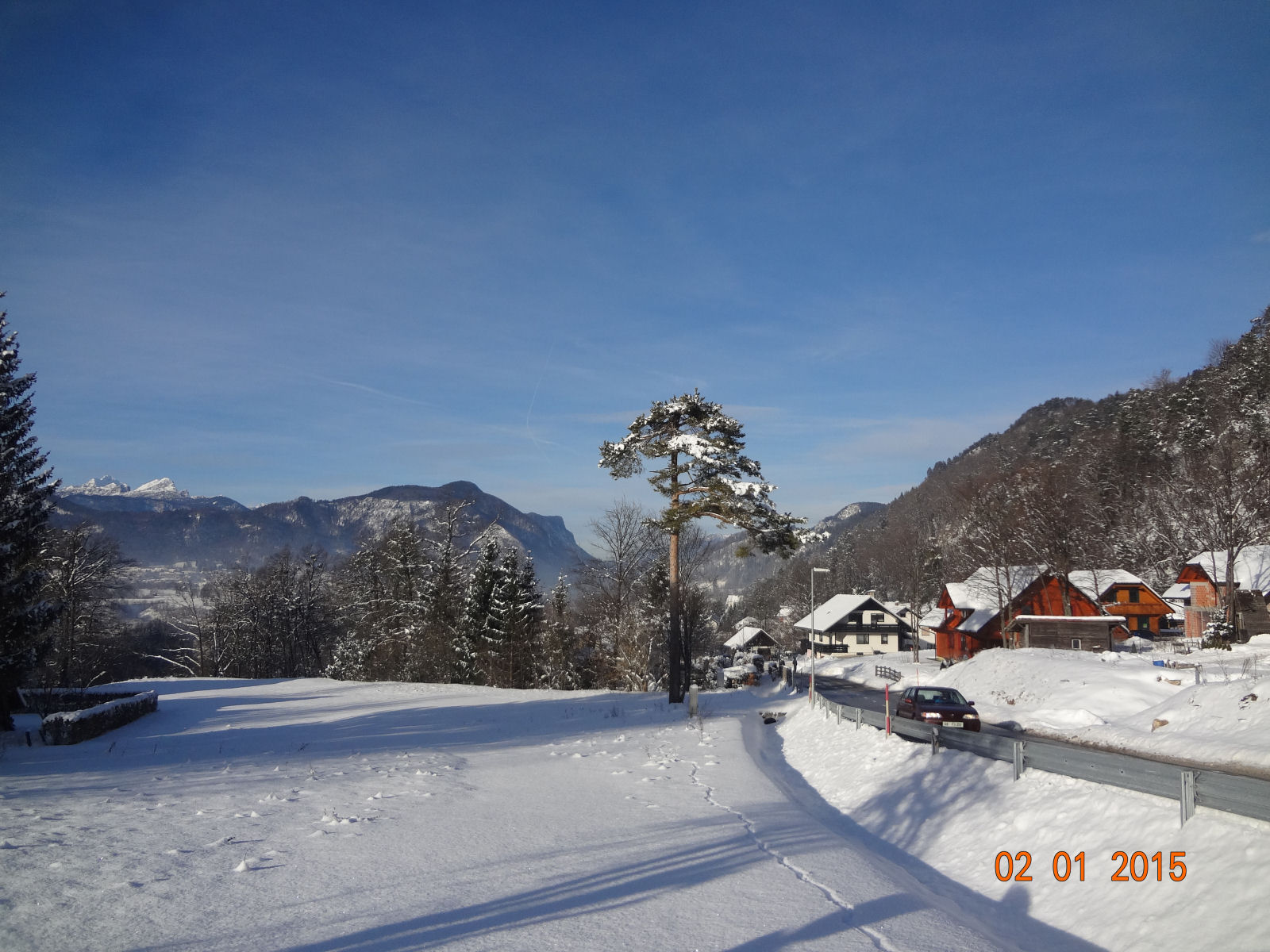 The Gorenjska region of Slovenia has plenty of snow and sun during winter
