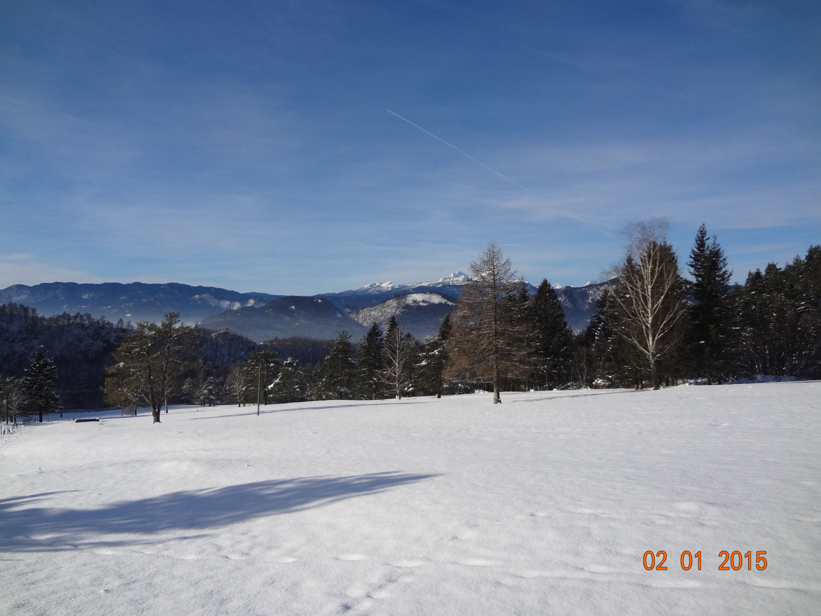 The Gorenjska region of Slovenia has lots of sun and snow during winter