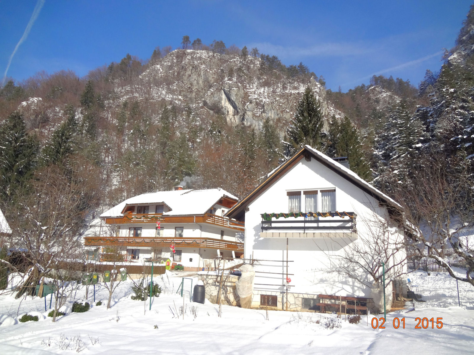 Holiday apartments in Slovenia with snow