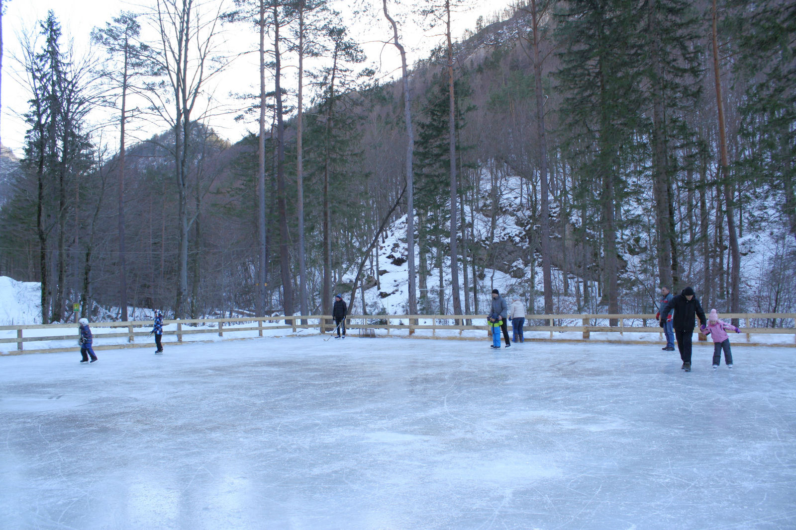 Ice skating near Bled, Slovenia