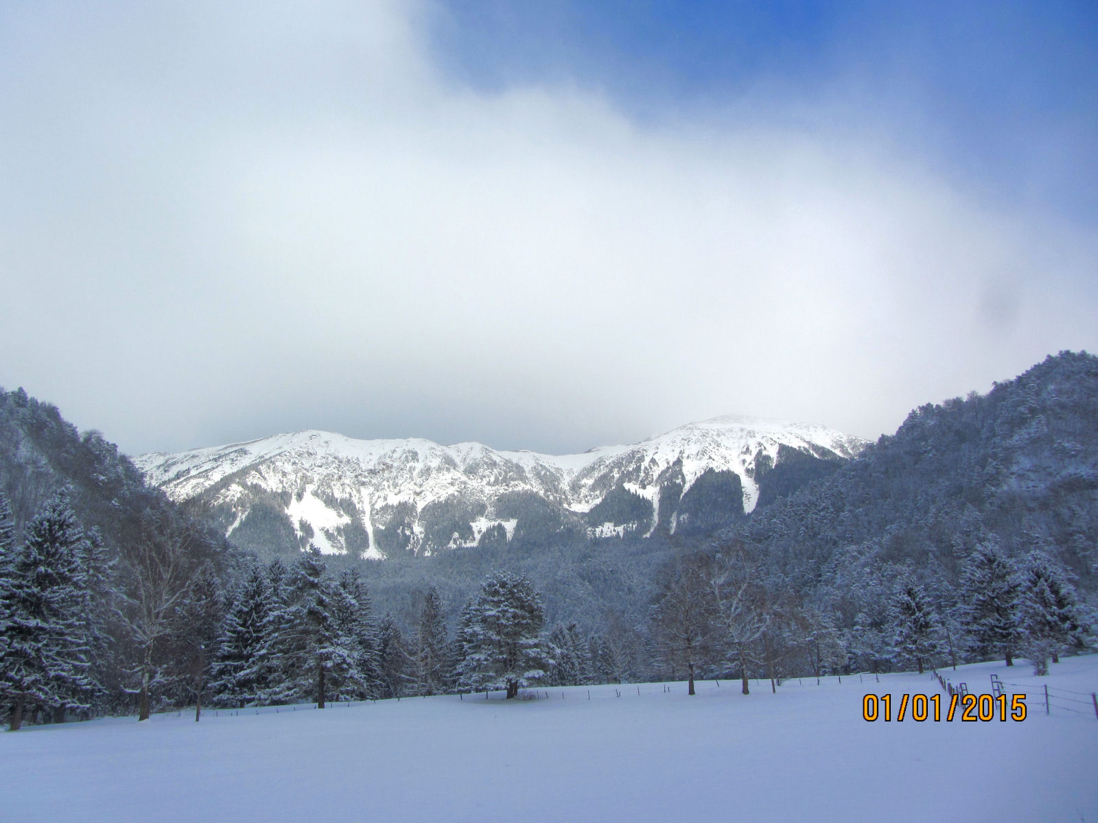 Karawanks in winter, january 22015 Slovenia