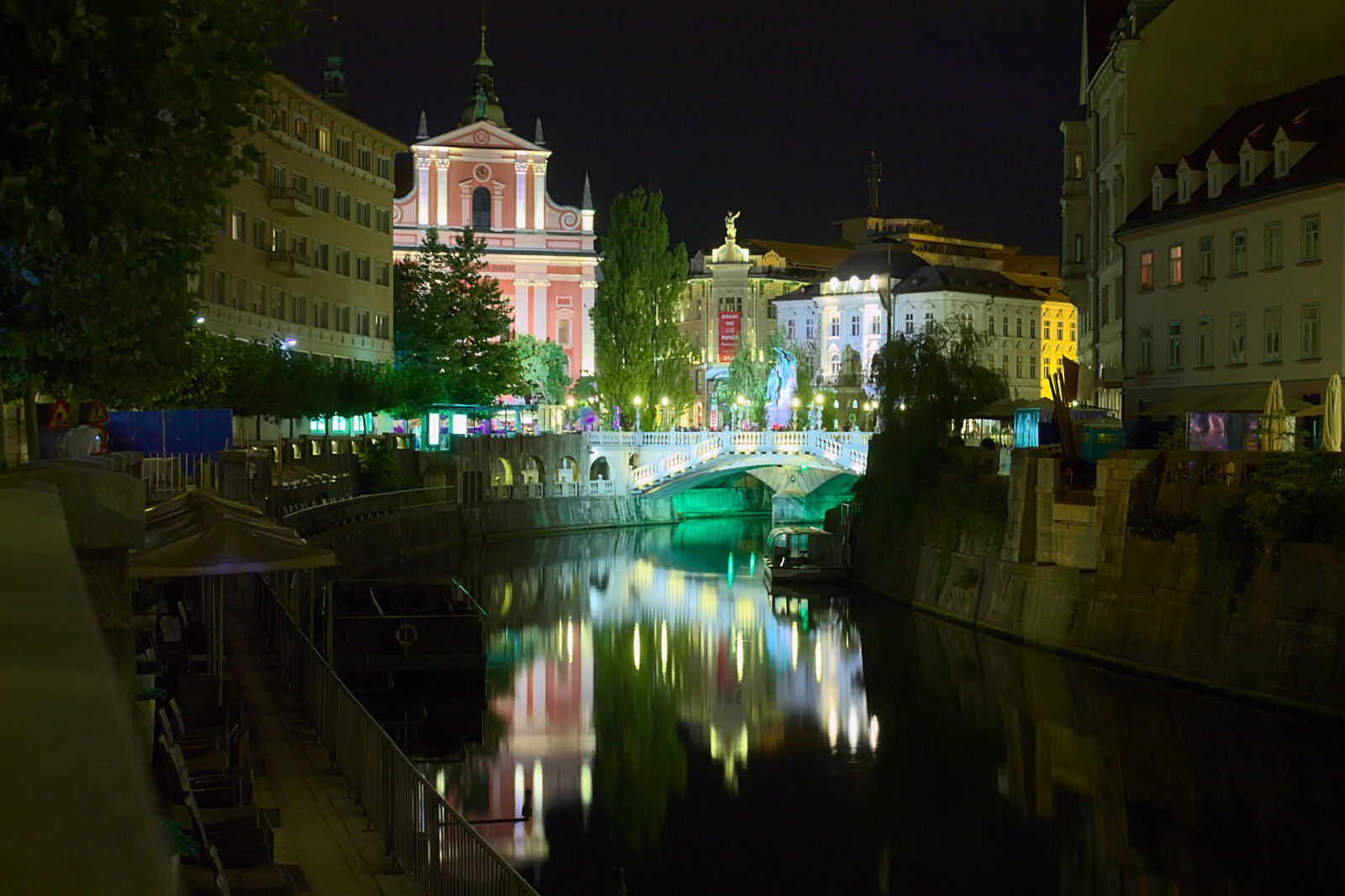 Ljubljana old town by night