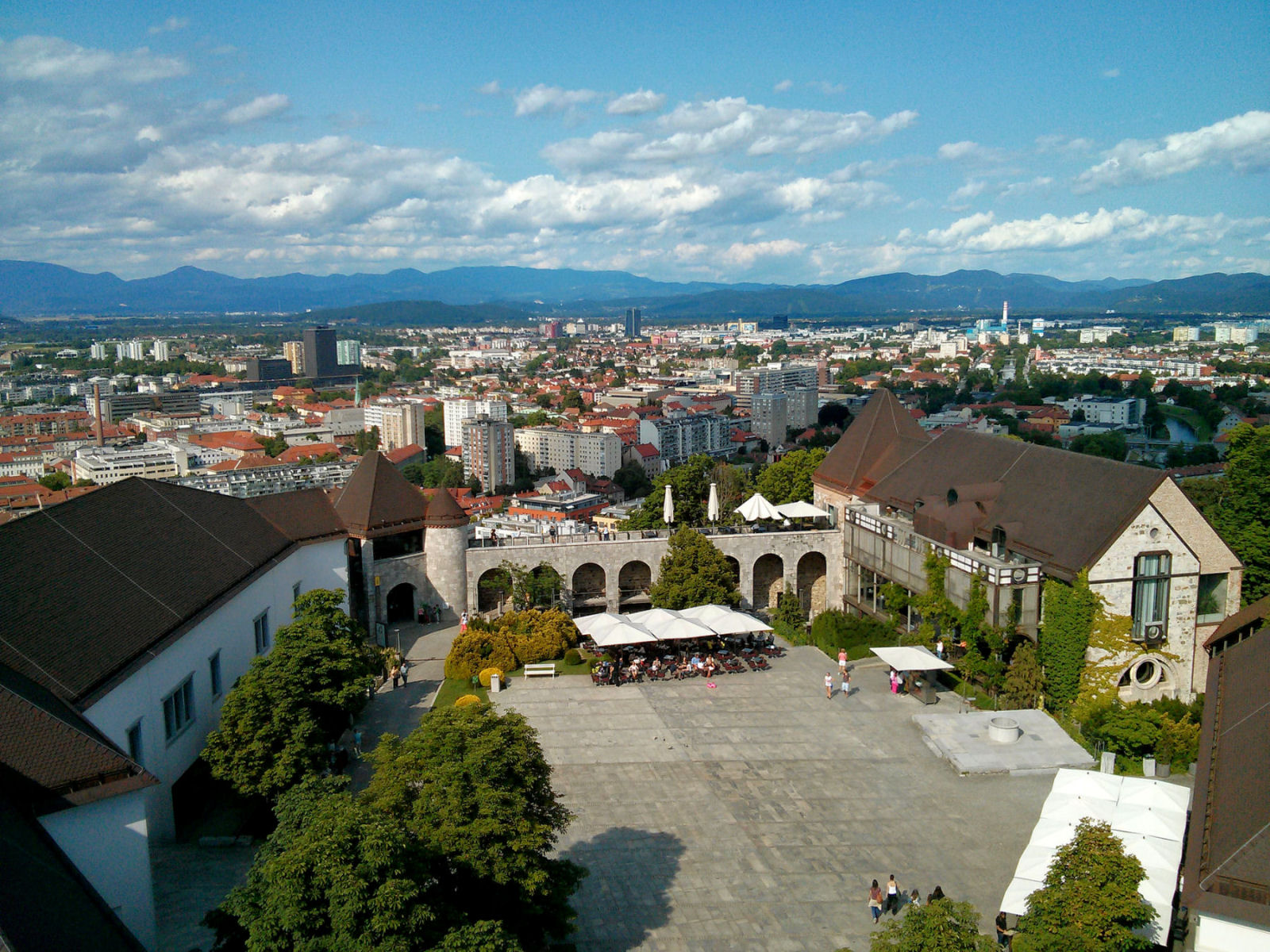 Ljubljana Slovenia, view from the castle