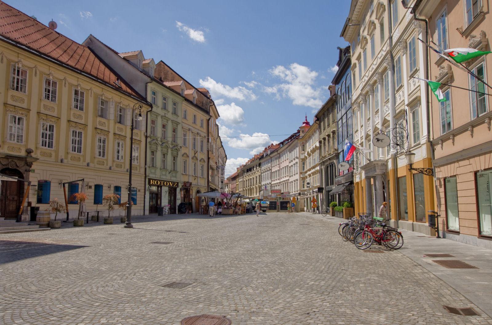 Ljubljana old town streets, Slovenia