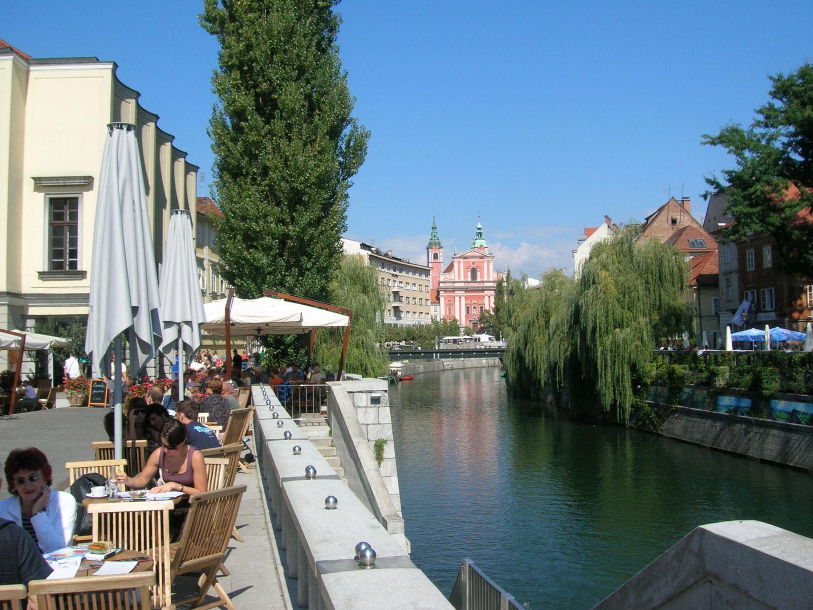 Ljubljanica River Canal Ljubljana Slovenia