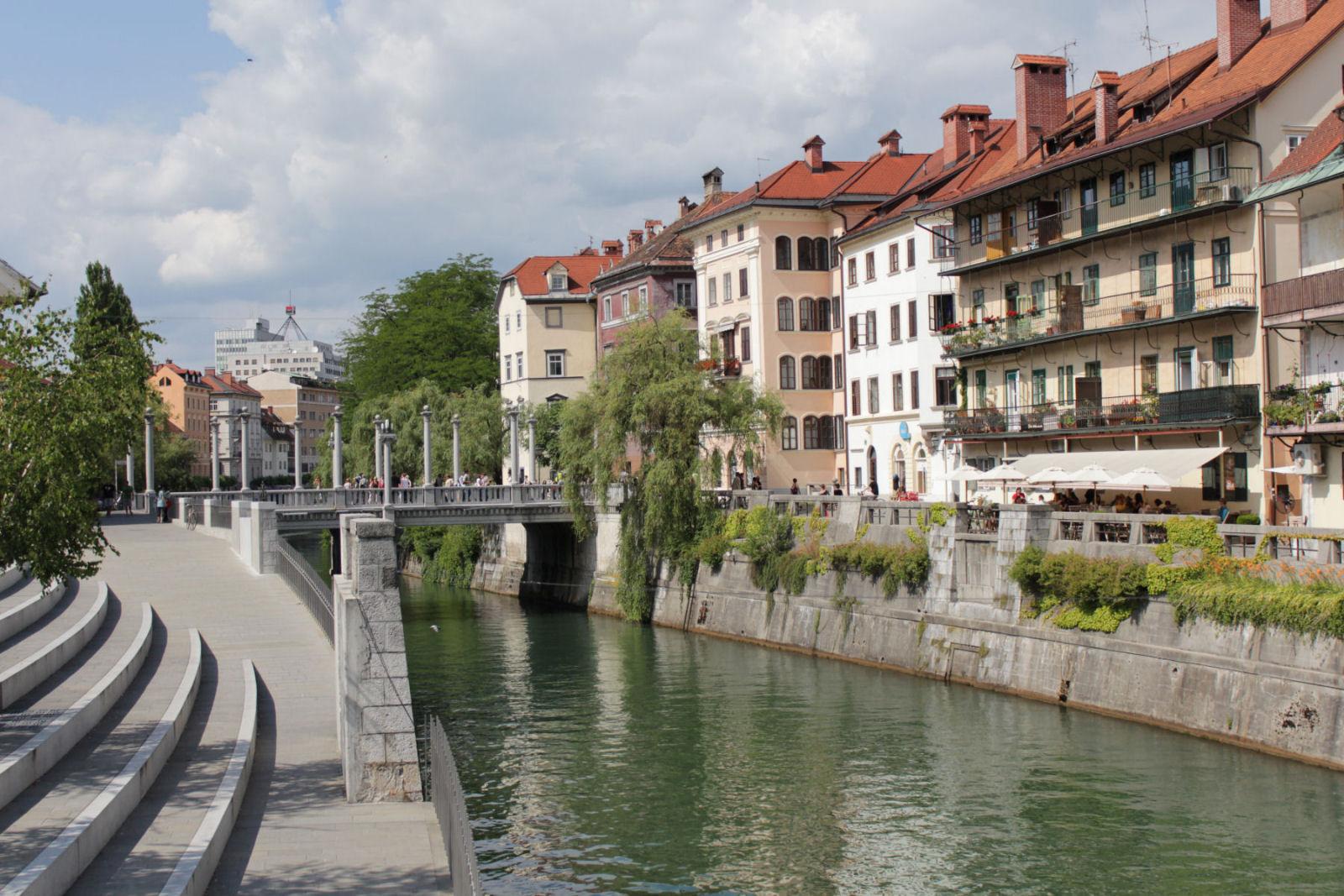 Ljubljanica river, Ljubljana Slovenia